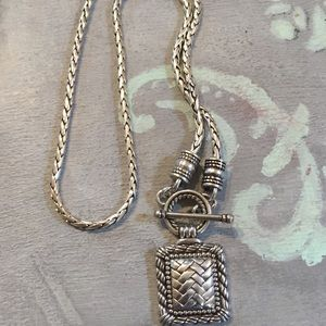Brighton retired silver pendant toggle necklace